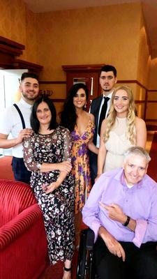 Shannon with her mum and dad, sister Maurade and brothers Pierce (far left) and TJ