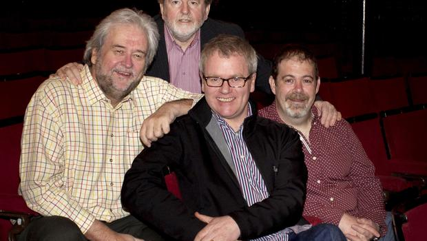 Ivan Little with Martin Lynch, Conor Grimes and Alan McKee in The History of Troubles (Accordin' To My Da)