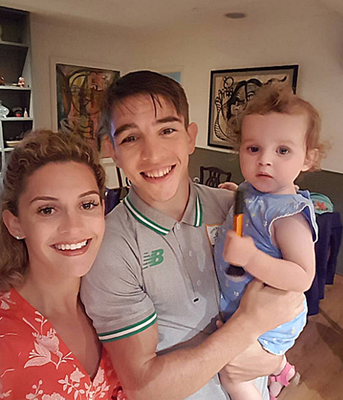 Belfast boxer Michael Conlan enjoys some family moments with his fiancee Shauna and young daughter Luisne