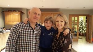 Karen Patterson with husband Martin and son Max.