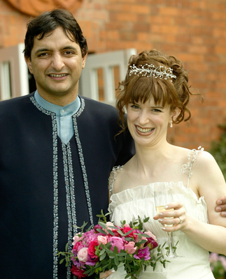 Jenny McCartney and Rajeev Syal on their wedding day in Cultra. Pic by Alasdair McBroom