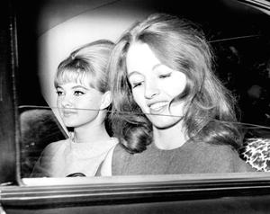Christine Keeler, right, and Mandy Rice-Davies, both key figures in the Profumo affair