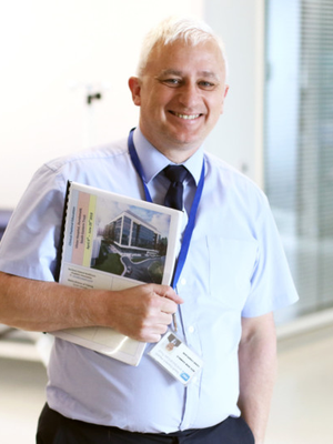 Rewarding role: chaplain Don Gamble, who is based at the Ulster Hospital