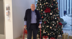 On the mend: Alf McCreary after his hip replacement