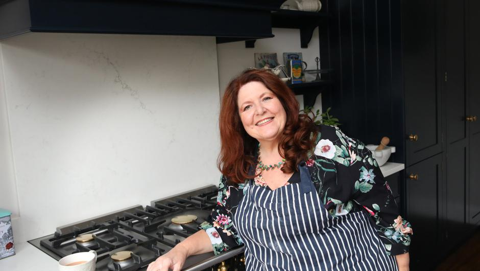 BBC radio and TV presenter Kim Lenaghan at home in east Belfast.  Photo by Peter Morrison