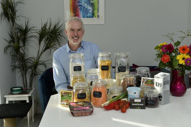 Winning recipe: Geoff Garrett with ingredients he uses in dishes