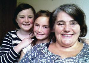 Ciara Fox with her twin daughters Ciara and Eimear