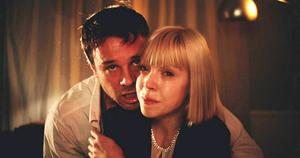 Screen scream: Antonia with Rupert Evans in The Canal