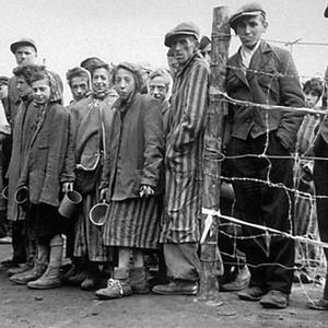 Survivors of Bergen-Belsen concentration camp