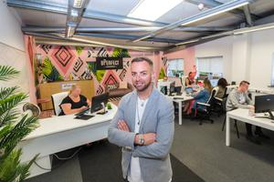 Brendan McDowell in BPerfect's offices