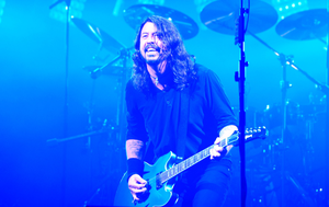 Times like these: Dave Grohl on the Pyramid Stage at the Glastonbury Festival