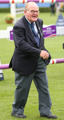 Assistant course-builder: Retired Londonderry baker Fred Guthrie at the show