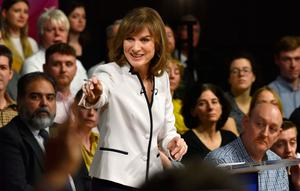 Fiona Bruce hosting BBC's Question Time