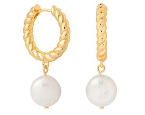 2. Astrid & Miyu rope and pearl hoops, £69