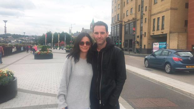 Courteney Cox and Johnny McDaid in Derry