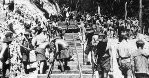 Terrible regime: Prisoners of war working the Thailand/Burma railway