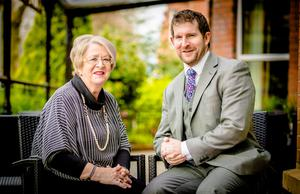 Gareth Macklin and his mother Mary at the Malone Lodge hotel on Belfast's Eglantine Avenue