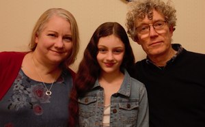 Jennie Carlsten with her husband Peter and daughter Maddie