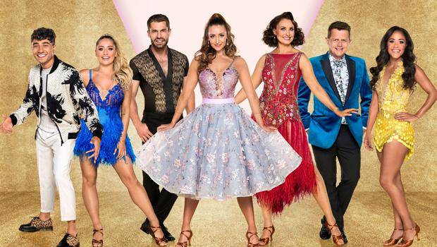 Mike with the line-up for the Strictly Come Dancing tour