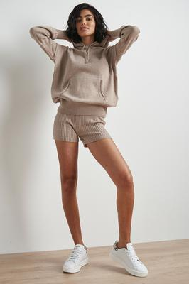 100% recycled knitted hoodie, £37