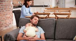 Welcome rest: many parents have to manage on only a few hours sleep a night after their child is born