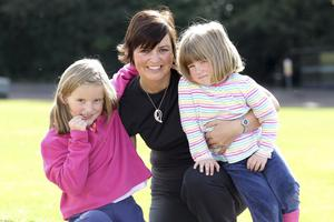 Family time: Denise with daughters Samantha and Beth