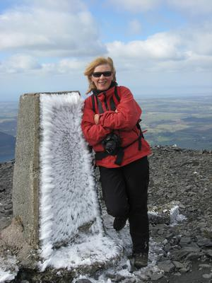 Wild side: Kate Thompson at top of Skiddaw in the Lake District