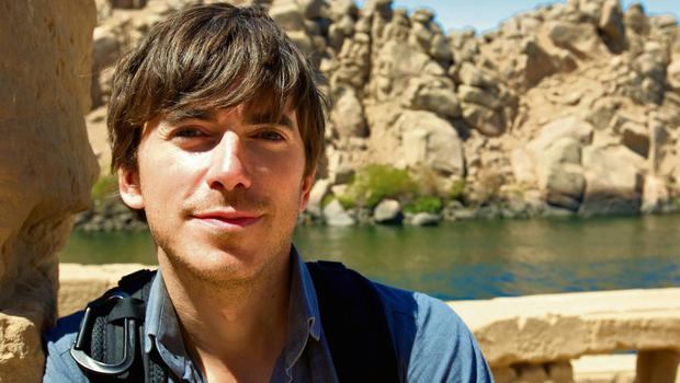 Simon Reeve on the River Nile in Egypt