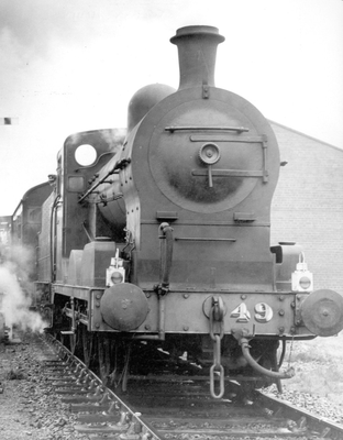 The last steam-hauled passenger train on the Belfast Central line, linking the Belfast-Bangor track to Portadown