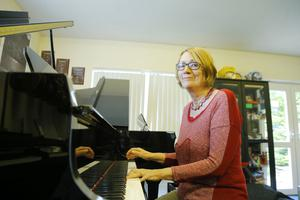 In key: Anna at the piano at her home in Ballinderry
