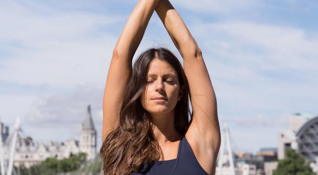 Staying calm: Hannah Barrett has spoken of the difference yoga has made to her