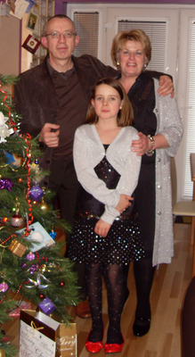 Issy with her late husband Johnny and their daughter Nuala