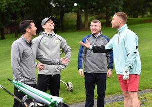 Paddy with his fellow Belfast boxers, from left Jamie Conlan, Michael Conlan and Carl Frampton