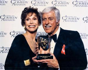Award winners: Dick Van Dyke with fellow sitcom star, Mary Tyler Moore