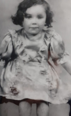 Celine as a young girl