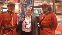 Anne Monaghan on a business trip in Canada