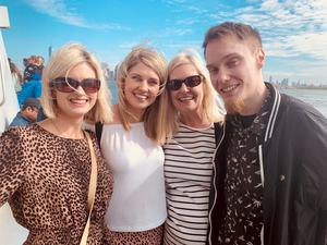 All smiles: Linzi with mum Beverley, sister Samantha and brother Elliott Corr