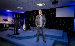 Dr Craig Cooney in the new Hope Church in Craigavon