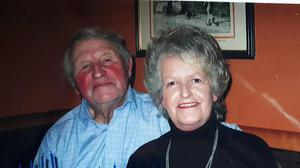 The late Aubrey Patterson and wife Kitty.
