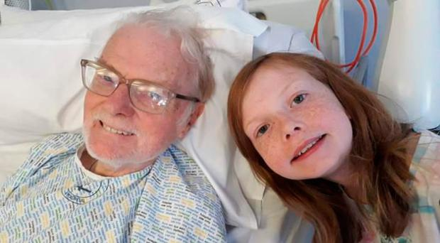 Cancer fight: Colin McAlpin and granddaughter Scarlett