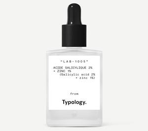 1. Typology local blemishes serum 2% salicylic acid + 1% zinc, £11.80 for 15ml