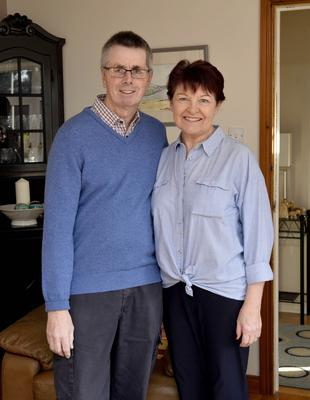 Write support: cancer survivor James Napier with wife Maire
