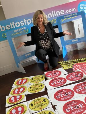 Nuala McIlroy (pictured) and Natalie Johnston who founded Belfast Print Online