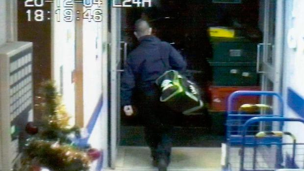 CCTV images from the Northern Bank robbery in 2004 which form the basis of his novel