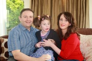 Loving daughter: Tracy Harkin with Kathleen Rose and husband Thomas