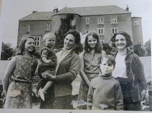 Family album: The Kinahans at Castle Upton, from left, sister Emma, brother Harry, mum Coralie, sister Vivi, Danny and sister Louise