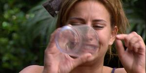 Ferne McCann during her controversial spider eating Bushtucker Trial