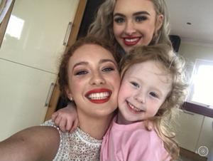 Amy-Mae with sisters Scarlett and Rylee