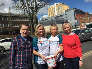 Big sacrifice: mum to son and mum to daughter, kidney donors and recipients (from left) Mark Dobson, Jo-Anne Dobson, Emma Donaghy and Claire Donaghy