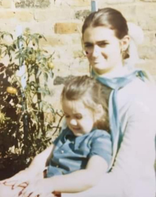 Family life: Louise with her mum Brenda in 1970